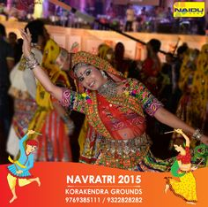 Get ready to amaze yourself with the biggest Navratri Celebration of the year at Korakendra Navratri Naidu Club #KoraKendraNavratri2015