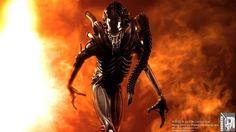 Aliens warrior cg shot II by locusta
