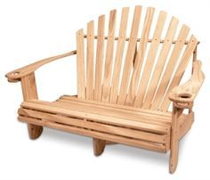 adirondack chair bench - Google Search