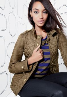Quilted Burberry Brit jacket. Love this!