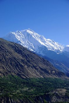 Mt. Rakaposhi (7788m) viewed from Karimabad, Pakistan.  Photo: elise and matt via flickr