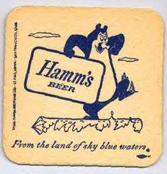 Hamms beer coaster