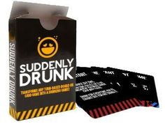 Suddenly Drunk by Breaking Games Fun Party Games, Adult Party Games, Adult Games, Drinking Games For 3, Mystery Date Game, Video Game Bar, Adult Game Night Party, Drunk Games, Clever Gadgets