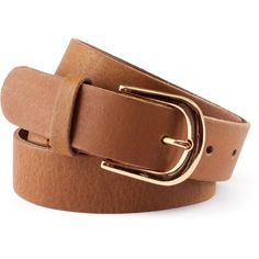H&M Leather belt ($19) ❤ liked on Polyvore featuring accessories, belts, h&m, jewelry, fillers, brown, real leather belts, brown belt, genuine leather belt and 100 leather belt
