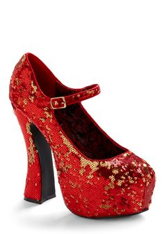 HOLY DICK! I have always wanted ruby slippers--why did these have to sell out when they were mega-clearance!? Damn you modcloth...