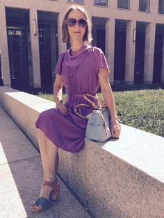 Last days of #summer #purple #dress #70s | Oceanblue Style #over40 #fashionbloggers