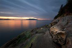 Larrabee State Park Sunset near Bellingham, Wa - Michael Russell Photography Photoblog