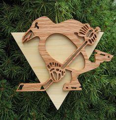 pittsburgh penguins hand cut ornament
