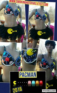Pacman Bra New for 2016 by Smokinghotdivas on Etsy