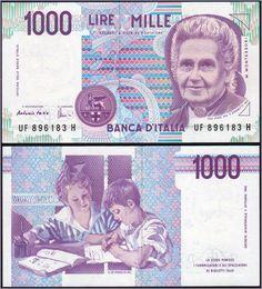 Collezione Personale di Banconote Italiane: 0.1.4. - 1000 LIRE MONTESSORI