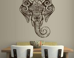 Elephant head tattoo on pinterest head tattoos elephant for Aztec mural tattoos