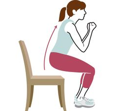 4 Strength-Training Moves You Can Do With A Chair  http://www.prevention.com/fitness/strength-training-moves-chair