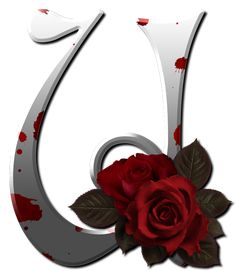 Gothic white alfabet with red rose Cute Alphabet, Alphabet Art, Alphabet And Numbers, Abc Font, Decoupage, Minnie Png, Gifs, Photoshop, Initial Letters