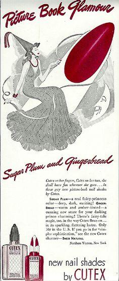 Fairy Vintage Nail Polish Print AD
