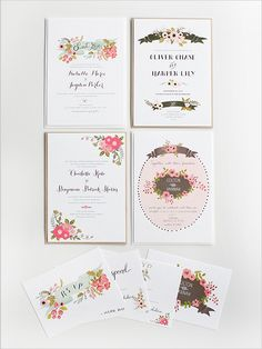 Wedding Invitations by Wedding Chicks.