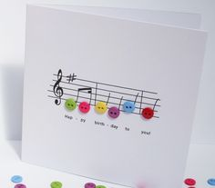 Birthday Music Birthday Card £2.70