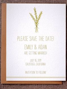 save the date. love the simplicity