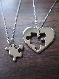 This would be a cute mother daughter tattoo mother heart daughter puzzle piece