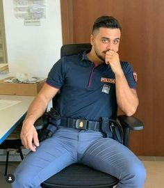 Men In Tight Pants, Tight Suit, Cop Uniform, Men In Uniform, Sexy Military Men, Scruffy Men, Hot Cops, Hunks Men, Beautiful Men Faces