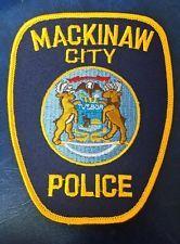 MACKINAW CITY, MICHIGAN POLICE SHOULDER PATCH