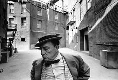 Buster Keaton, MGM back lot, 1965  by Lawrence Schiller photographer