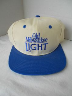 d50cc7cf566 Old Milwaukee Light Beer Blue White Snapback Hat Cap