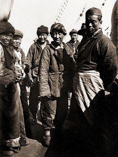 Chinese Ship Crew -- Probably taken during the time of the German colonial period in Shandong before 1914