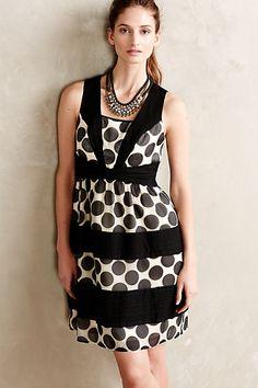 Deco Dot Dress #anthropologie
