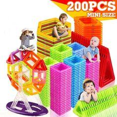 Mini Magnetic Blocks Bricks Building Construction Design Child Kid Toys 3D DIY