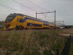 Verlengde Inter Regionale Matrieel (VIRM) from Gouda to the Hague. 16-03-2014.   Photo: Marcel Dielemans