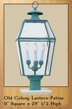 Old Colony Lantern - Patina