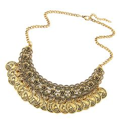 Women's Retro Alloy Coin Pendant Statement Bib Chain Necklace Charming Jewelry //Price: $US $1.70 & FREE Shipping //    Women's Retro Alloy Coin Pendant Statement Bib Chain Necklace Charming Jewelry This coin necklace will show your unique temperament. To let your woman be happy, this jewelry is a good choice for you to reach her heart. She will be proud to have one. Never ever miss it.  Gender: Women's Type: Necklace Style: Punk, Retro Material: Alloy Color: As the picture shows Occasion…