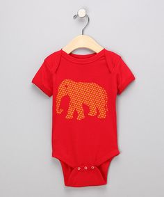 Red Fahantay Bodysuit - Infant by Pigeon Camera Kids on #zulily today