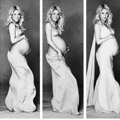 She will inspire me to look and feel beautiful. This woman makes pregnancy look absolute beautiful. She looks like a f'in angel.