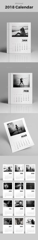 Desk Calendar 2018 Calendar 2018, Desk calendars and Ai illustrator