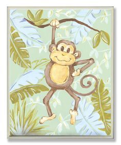 Take a look at this Monkey Jungle Wall Art on zulily today!