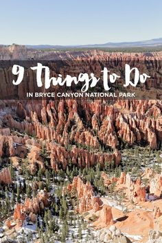 9 Things to Do in Bryce Canyon National Park in Southern Utah is known for its orange colored hoodoos and unique rock formations // localadventurer.com