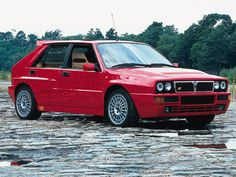 Lancia Delta Integrale.  This is one of my favorite cars of all time, a truly bonkers hot hatch.