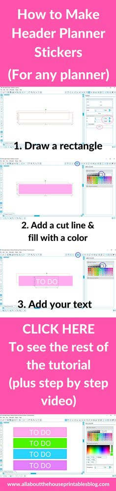 how to make planner stickers header erin condren vertical life planner eclp title functional free printable silhouette tutorial