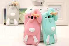 With Logo 3D Cute cartoon cases Cover For Samsung Galaxy S3 i9300 Bunny Rabbit Rubber Soft Silicone Case