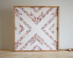 "Reclaimed Wood Wall Art - 24"" x 24"" x 1.5"" - Mixed Tones"