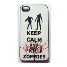 iPhone 4 Case  Keep Calm and Kill Zombies by Getoffmycase on Etsy, $13.99