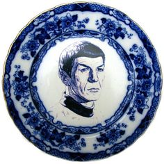 Flow Blue Spock Portrait-Hilarious!