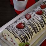 Rulada cu crema de branza si capsuni  link in Bio  cakestagram  cake  foodinsta  instagram  foodporn Plastic Cutting Board, Instagram