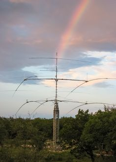 US Tower HDX-572 somewhere over the rainbow Ham Radio Towers Lattice style tower