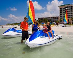 Waverunner and jetskirentals on Fort Myers Beach at three convenient  locations. We have the largest riding area on Fort Myers Beach. Hourly  rates and guided tours. Click to rent now!