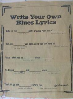 How to write your own blues lyrics