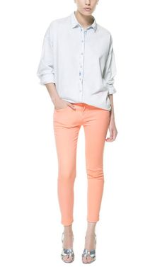 Image 1 of CROPPED TROUSERS from Zara