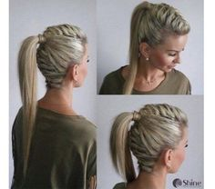 Hohe haar hohe pin up zopf - High hair high pin up braid - Dance Hairstyles, Side Hairstyles, Braided Hairstyles, Hairstyles 2018, Hairstyles Videos, Hairstyle Short, School Hairstyles, Wedding Hairstyles, Hairstyle Ideas