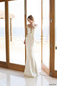 Spring corset Summer 2014 Collection stylish Sequin Wedding Dresses 2015 Fashionable Mermaid Bride Gowns Vestido de Noiva
